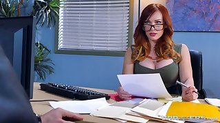 Great hard sex for an obstacle female boss in scenes of imbecile XXX