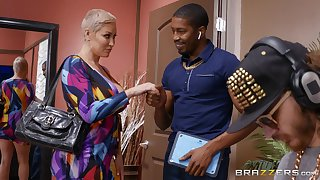 Senior blonde dame Ryan Keely tries a succulent BBC on for section