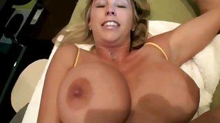 Busty blonde Spliced cheating & fucking - Homemade facial