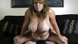 Amateur couple big jugs piece of baggage think the world of on cam.