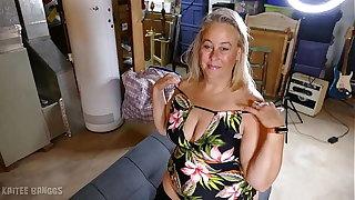 Beautiful fat tits blonde BBW mature blonde Kaitee Banggs fat ass booty curvy American MILF