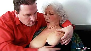 Chubby TITS GERMAN GRANNY, 81yr OLD SEDUCED TO FUCK BY GUARDIAN