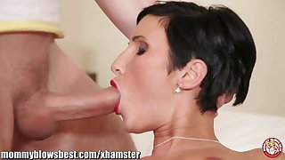 MommyBB Busty euro MILF Maid is sucking the hotel client
