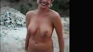 Mature milf having fun naked