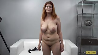 Big-Breasted Redhead Chubby Mommy On tap Casting