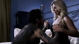 All tattooed stud penetrates soaking pussy of brightly-lit blonde nympho India Summer