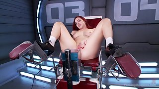 Matchless redhead Sophia Locke makes herself cum with a vibrator