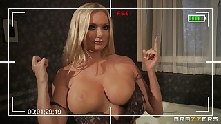 Busty wife Briana Banks loves to have sexual intercourse relative to her big dick neighbor